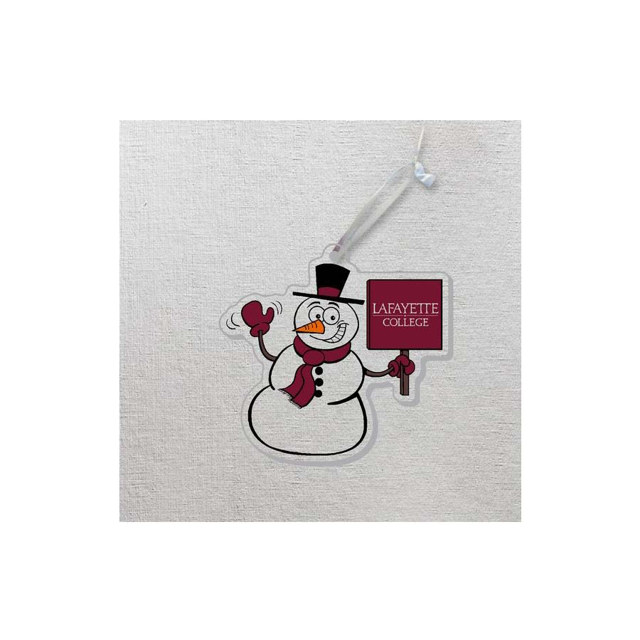 Image For ACRYLIC SNOWMAN ORNAMENT
