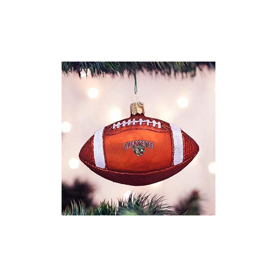 Image For FOOTBALL GLASS ORNAMENT