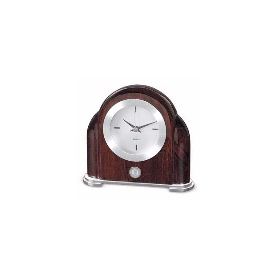 Image For CLOCK ROSEWOOD ART DECO