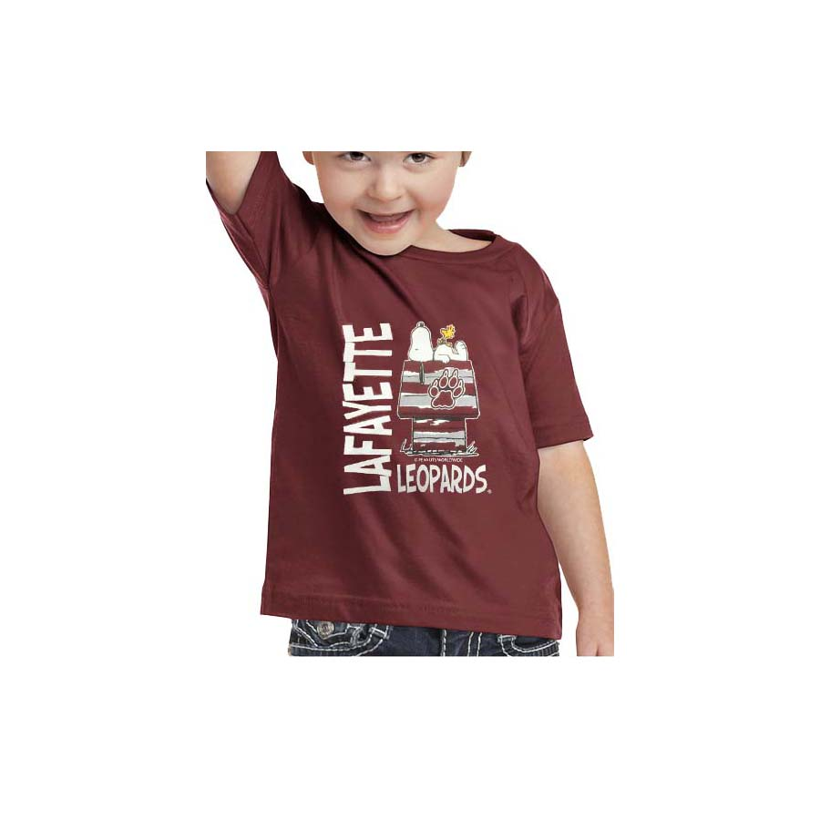 Image For SNOOPY TEE MAROON TODDLER